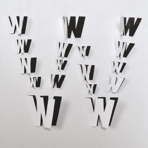 Letters Inside Letters paper alphabet