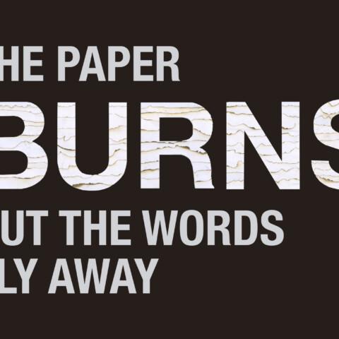 The Paper Burns Composition